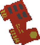 Descent Red Key Lego Mosaic