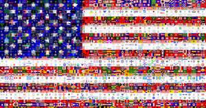 USA Flagmosaic