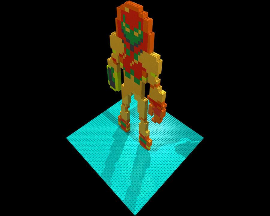NES Samus Lego Mosaic by gpsc