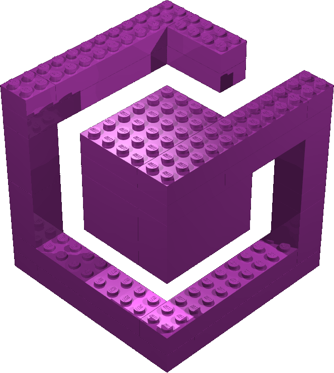 Lego GameCube Logo by gpsc