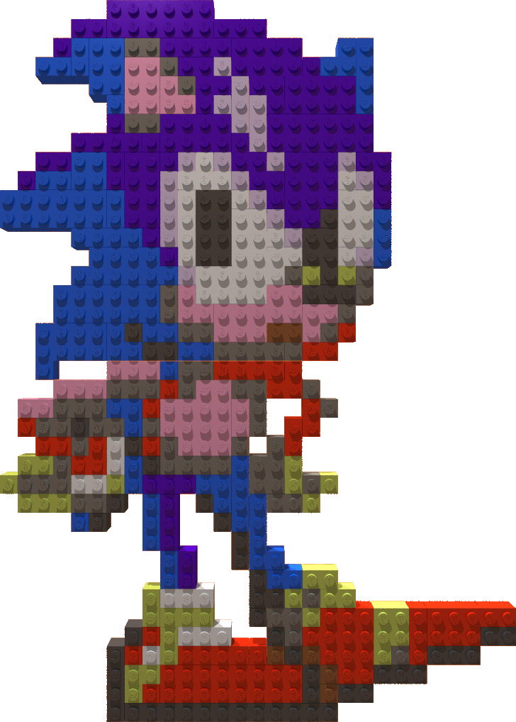Sonic Lego Mosaic by gpsc