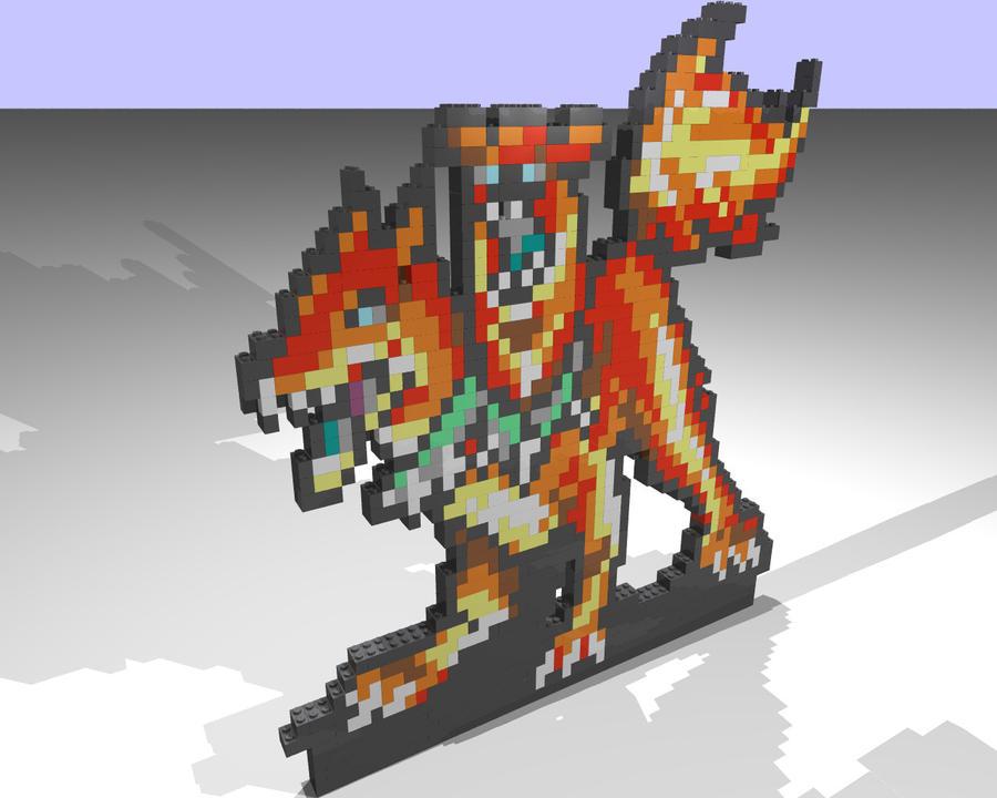 Sega Hellhound Lego Mosaic by gpsc