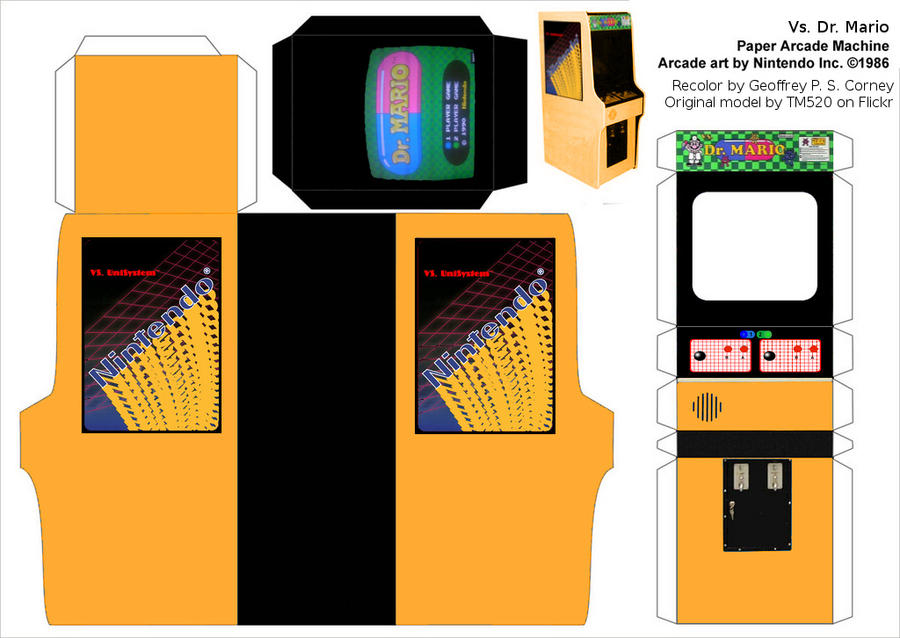 vs dr mario arcade template by gpsc on deviantart