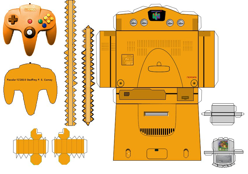 N64 Papercraft Template By Gpsc On Deviantart
