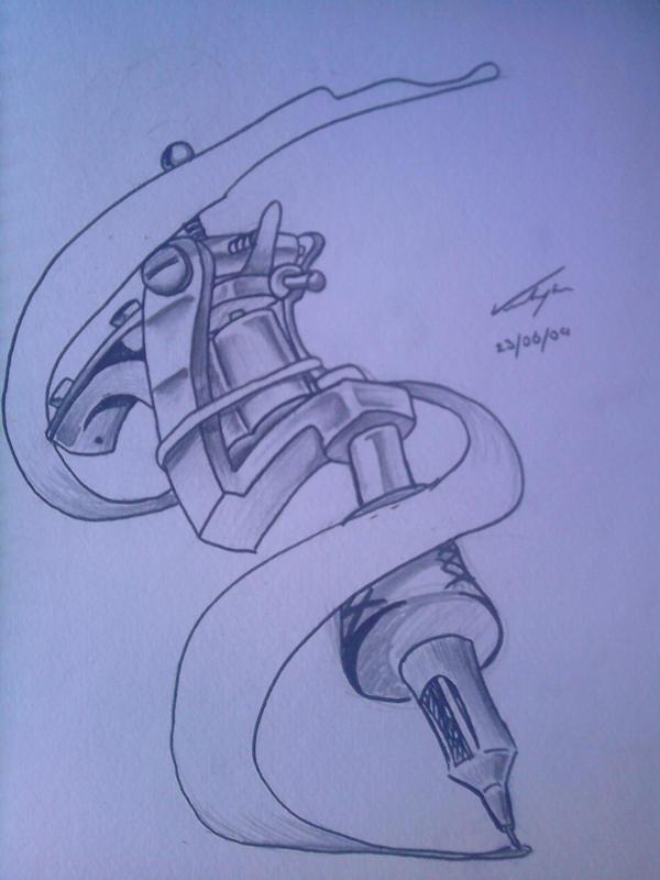 Tattoo Gun- Tattoo Design by