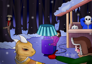 Free time in Snowdin Forest