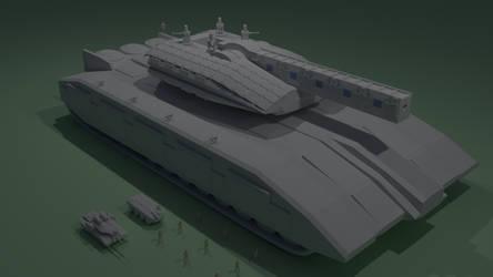 Futuristic Main Battle Tank - Work in Progress