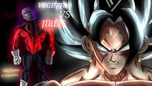 Vegetto vs Jiren fan comic cover