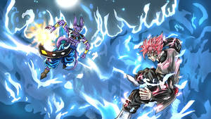 Beerus vs Goku Black -Request by AnubisH55513