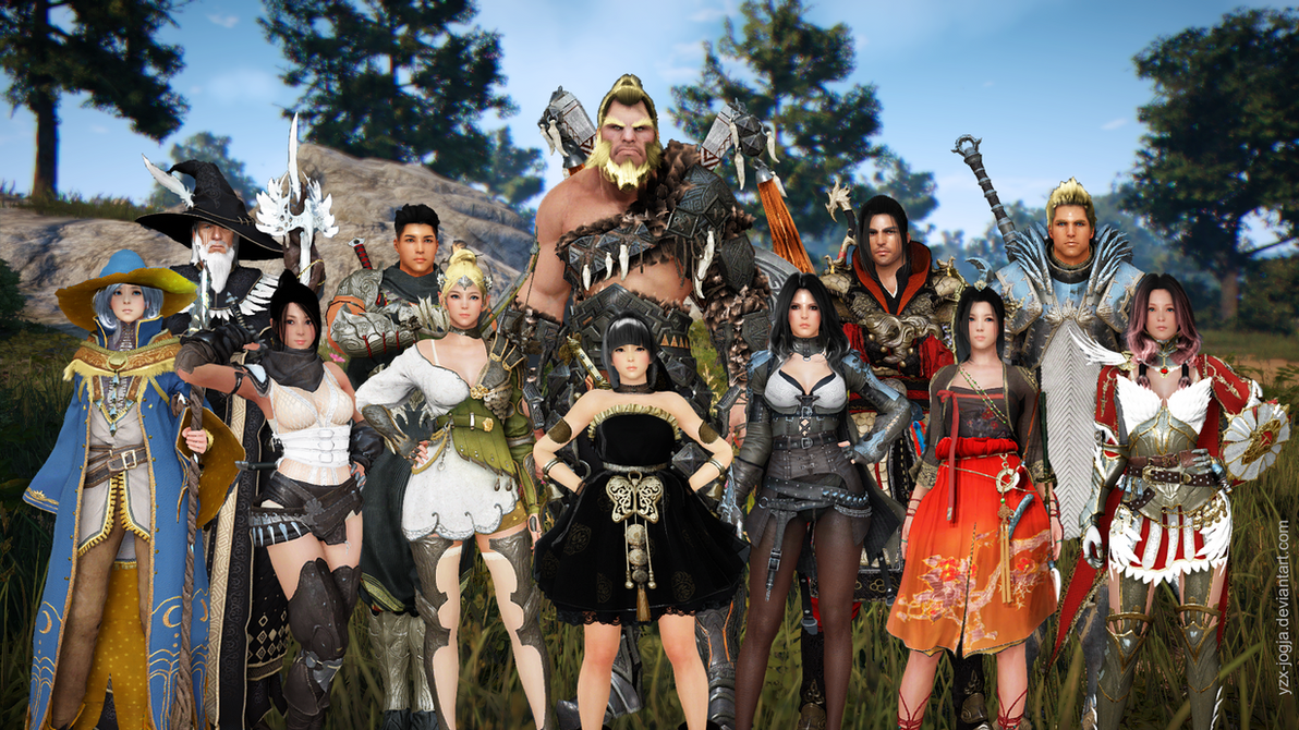 Black Desert Character Design Download : Black desert characters all jammed in one picture by yzx