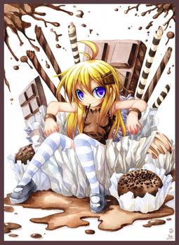 Loli with chocolate. 199