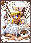 Loli with chocolate. 199