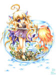 Catgirl with a Goldfish