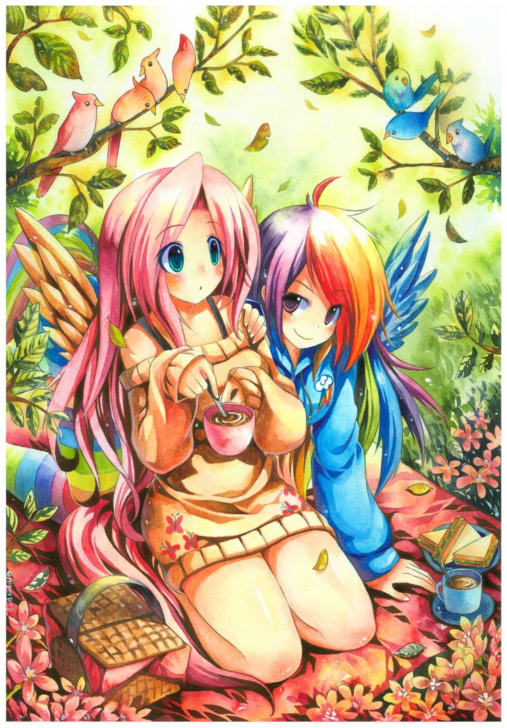 FlutterShy And Rainbow Dash by emperpep on DeviantArt