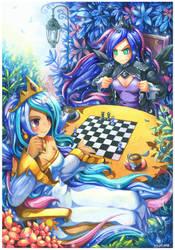 Princess Celestia and Princess Luna by emperpep