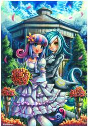 Pony commission : BonBon and Lyra