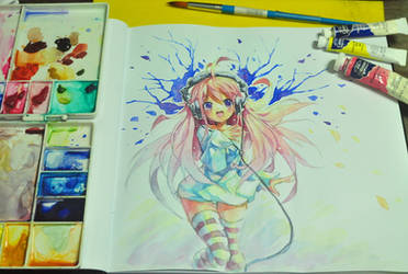 watercolor doodle by emperpep