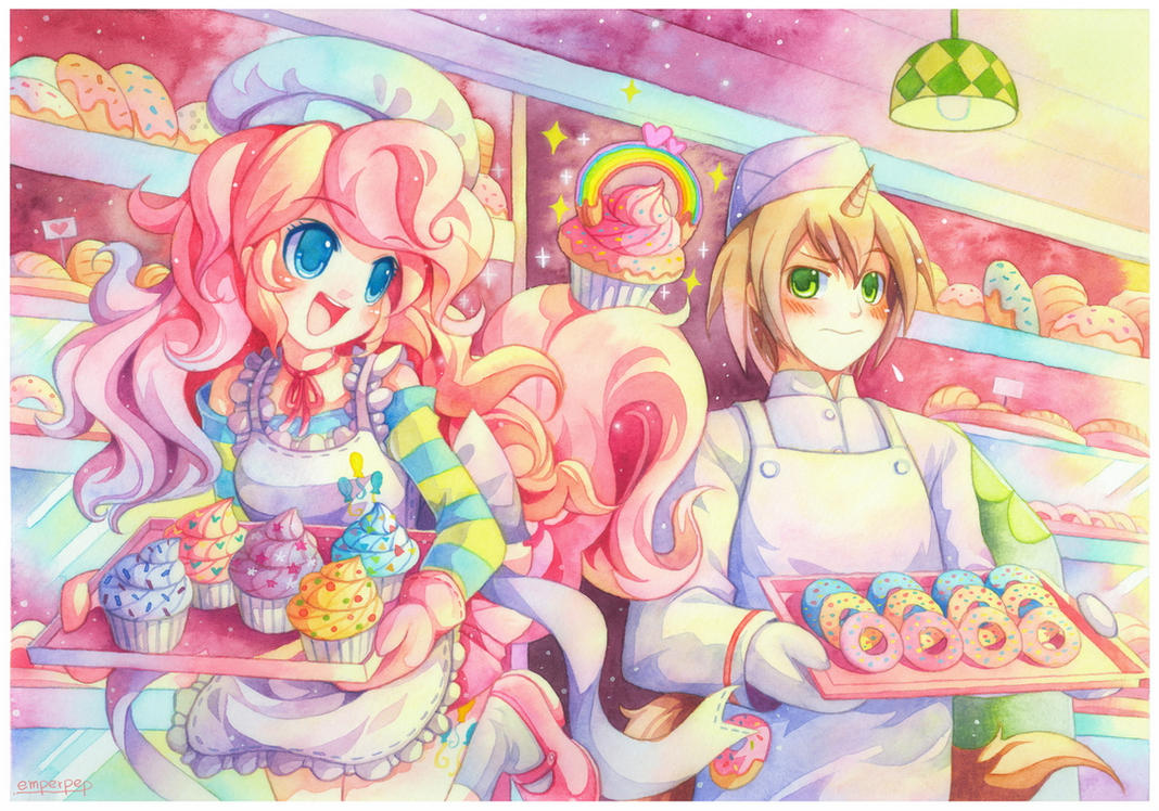 pinkie_pie_and_donut_joe_by_emperpep-d6t