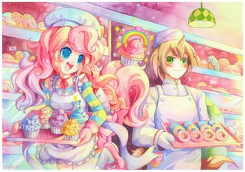 Pinkie Pie and Donut Joe by emperpep