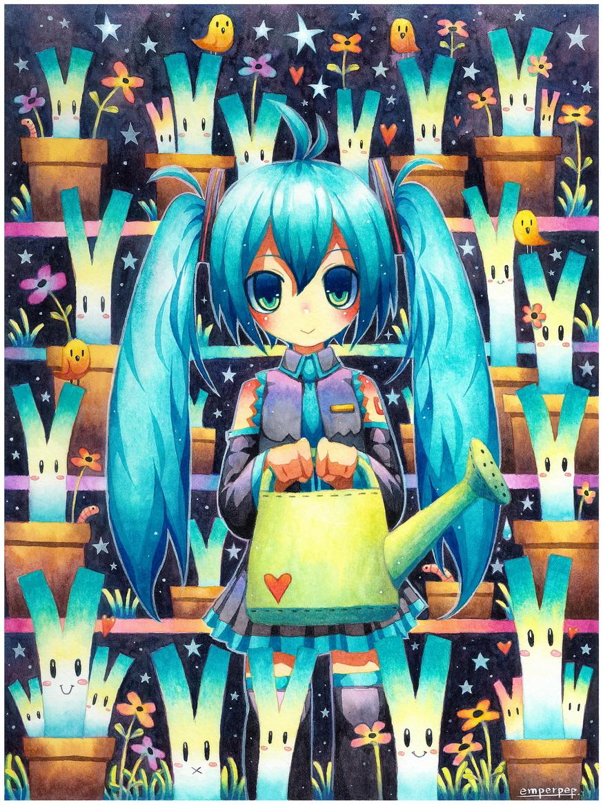 Vocaloid watercolor