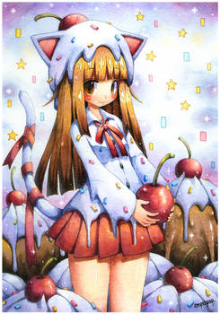 Cherry topping Catgirl