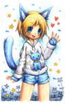 Blue Catgirl