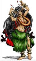 The hula girl fire walker