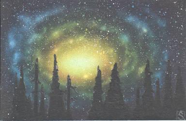 Nebula over forest by jkrolak