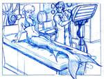 Treatment was a success - blueline sketch