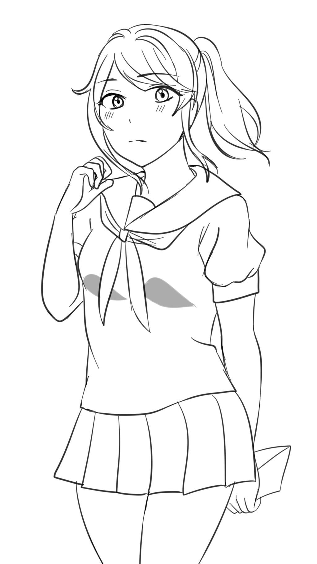 Ayano aishi wip by oreosampai on deviantart for Yandere simulator coloring pages