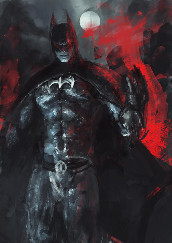 Batman, one hour sketch by DismalFreak