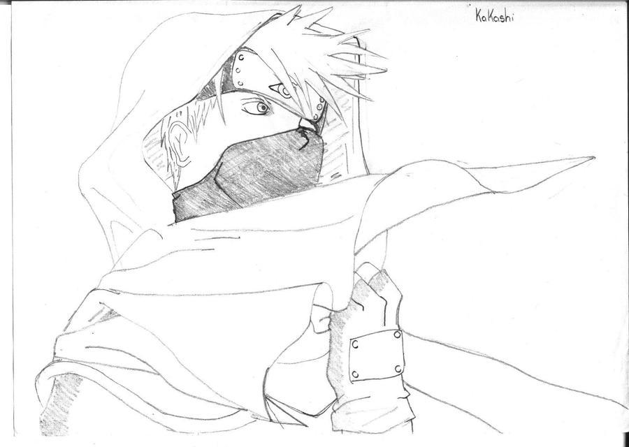 Kakashi Drawing Easy Kakashi Hatake Drawing 900 x