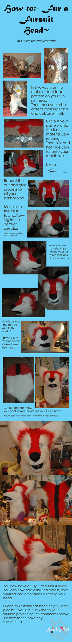 Furring a fursuit head- Tutorial~ by Saixpuppy222