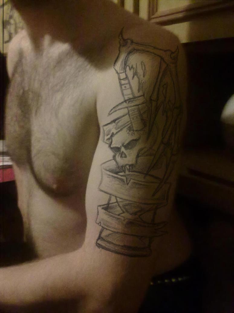 Music skull note Arm tattoo by Misiek296 on deviantART
