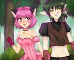Mew Ichigo and Kisshu