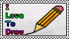 I love to draw by LittlevampireX