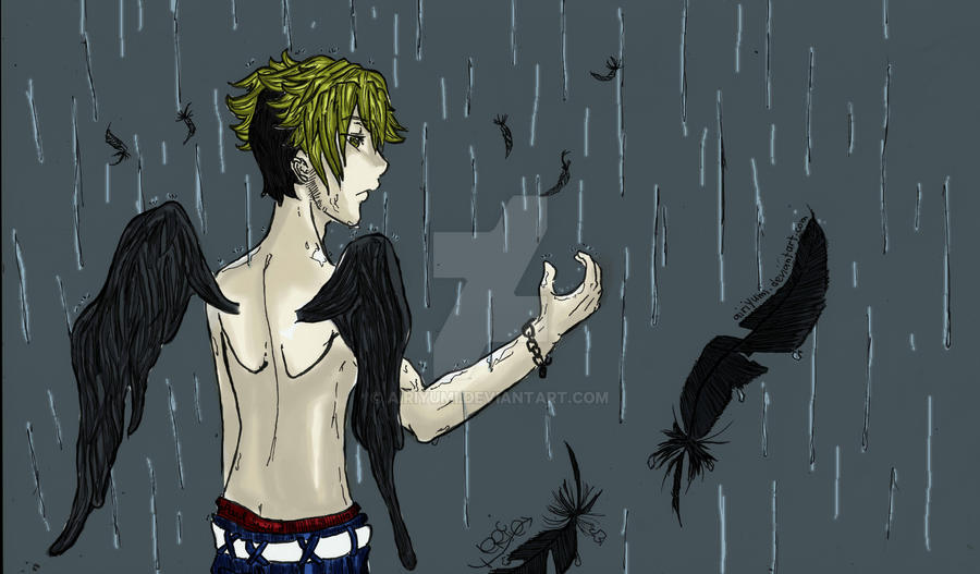 Raining rain and feathers by AiriYumi