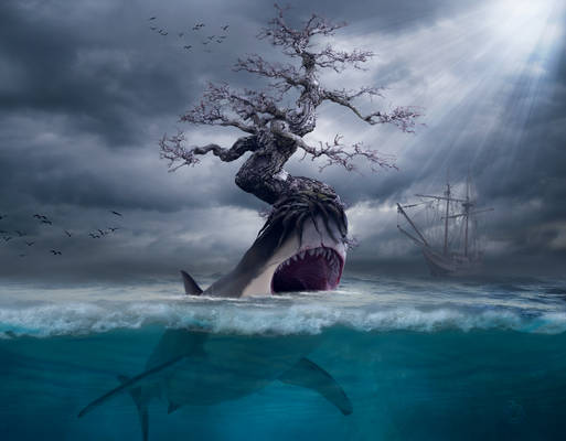 Giant Tree and Shark