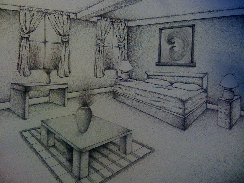 Two point perspective room by senx28 on deviantart for Living room 2 point perspective