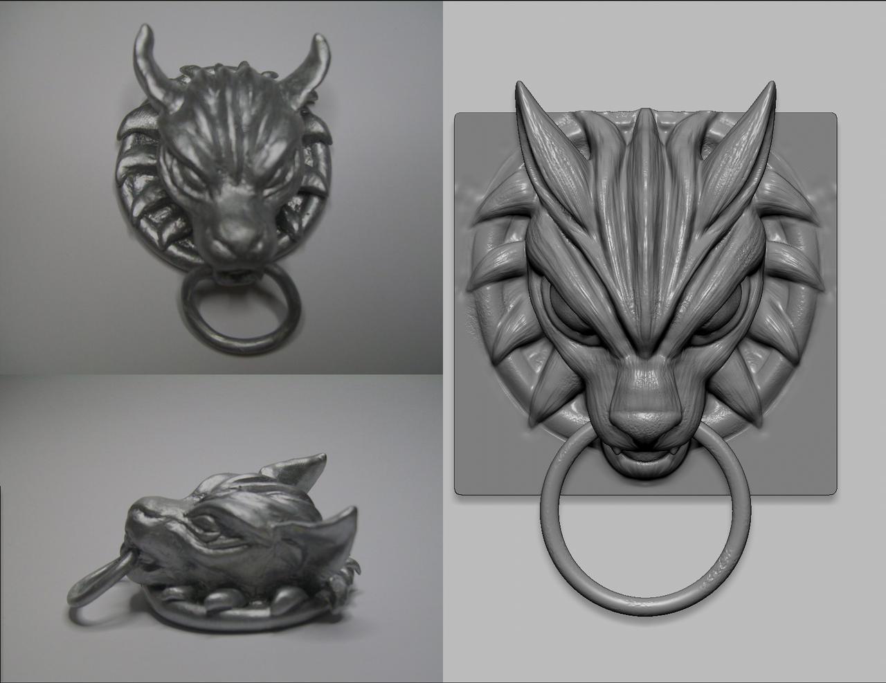 Bon ... 3D Door Knocker Cloudu0027s Wolf By Senx28