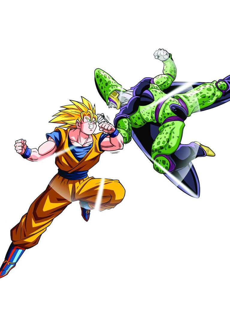 Showdown! Cell vs. Goku! by alainperdriel on DeviantArt