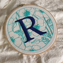 Embroidered R