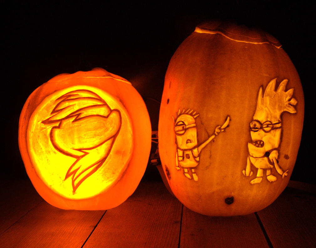 Equestria daily mlp stuff halloween pumpkin carving