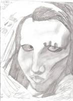 Marilyn Manson 2 by DeathThemeThirteen