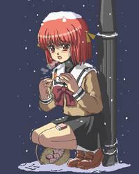 Yukko, the little match girl