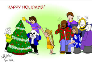12 Decorating a tree: Gift for Helder666 by SailorEnergy