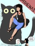 Humanized Athenas (my cat)