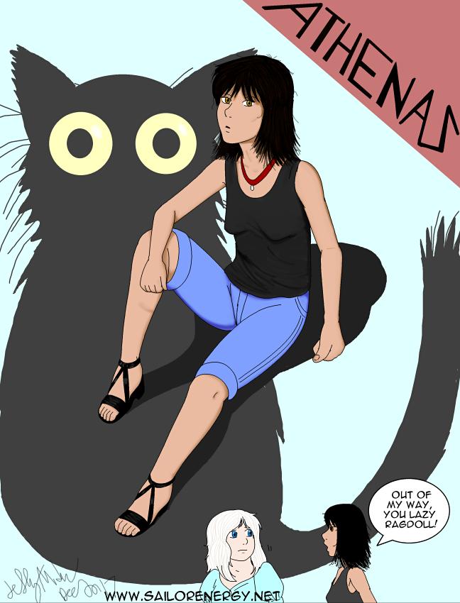 Humanized Athenas (my cat) by SailorEnergy