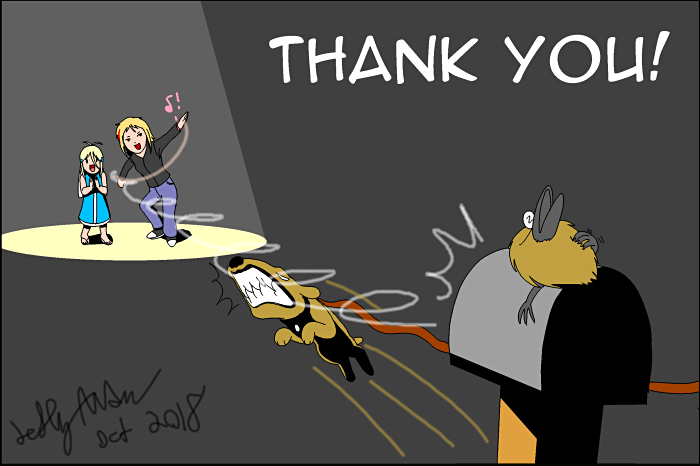 Thank you card for Crash-the-Megaraptor by SailorEnergy