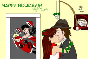 47 No interrupt Mistletoe kiss for OfficialKaeChan by SailorEnergy